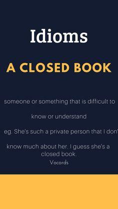 A closed Book English Idiom Vocords