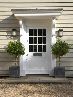 90 Awesome Front Door Farmhouse Entrance Decor Ideas - Page 32 of 95 - Abidah Decor Front Door Overhang, Front Door Porch, House Front, Front Entry, Front Door Canopy, Front Door Plants, Window Canopy, Porch Roof, Side Porch