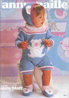 RECEITA TRICÔ FÁCIL   Anny Blatt   Revista Anny Maille Nº 44 Baby Tricô   Receitas completas emtricô com gráficos de pontos e para bo...