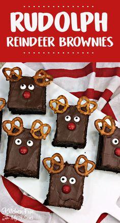 Fun Christmas Reindeer Brownies recipe kids can make. Fun Christmas Reindeer Brownies recipe kids can make. Christmas Baking For Kids, Baking With Kids, Christmas Snacks, Christmas Cooking, Christmas Goodies, Holiday Baking, Christmas Fun, Christmas Deserts For Kids, Easy Christmas Baking Recipes