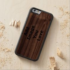 Add Your Horizontal Photo Carved® Walnut iPhone 6 Bumper Case. How to DIY iPhone 6 Case http://www.zazzle.com/cuteiphone6cases/iphone+6+cases?dp=252480905934073059&ps=120&cg=196639667158713580&rf=238478323816001889 #diy #iphone6 #case #photo #custom #customizable #option #creat #design #