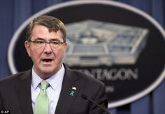 U.S. Defence Secretary Ash Carter (pictured) has said the Iraqi troops showed 'no will to fight' in the capitulation of Ramadi against ISIS forces