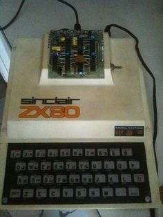 Sinclair The add-on board provided SLOW/FAST modes switching, making this like a The side switch allows screen black/white reverse. Computer Video Games, Computer Keyboard, Mechanical Calculator, School Computers, 8 Bits, Old Technology, Computer Hardware, Old Tv, Vintage Industrial