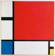 Composition II in Red, Blue, and Yellow (1930) by Piet Mondrian (Dutch, 1872–1944)