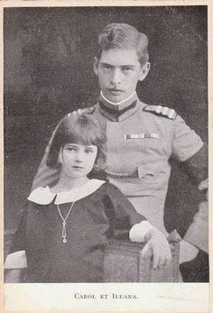 Princess Ileana as a child with her eldest brother  Crown Prince, later King, Carol.  The strained air of this photo presages the future troubled relationship between brother and sister.  Jealous of Ileana's popularity, Carol used her marriage to an Austrian archduke--a union he encouraged--to get and keep her out of Romania.