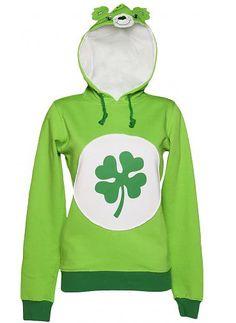 Ladies Green Good Luck Bear Care Bears Hoodie vía TruffleShuffle #moda #fashion #designer