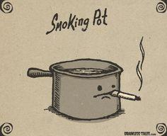 Naughty pot! LOL!