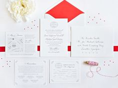 The first impression your guests have of your wedding are your invitations. We love how this invitation suite includes addresses and directions, accommodation information, the wedding website address, and even a detailed map. Just be sure not to include important information on your RSVP card, as your guests will return that piece to you.