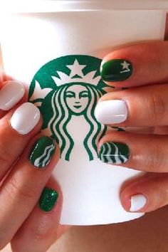 I have seen it all now kids. Great coffee and sassy nails:)