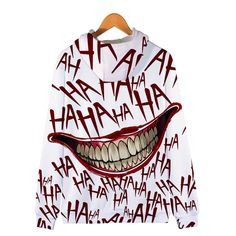 Unisex Hooded Suicide Squad Harley Quinn Joke Printed Realistic Pullover Athletic Hip-hop Sweatshirt with Big Pocket Jared Leto Joker, Joker Costume, Faia, Funny Design, Daily Wear, Harley Quinn, Squad, Hoods, Hip Hop