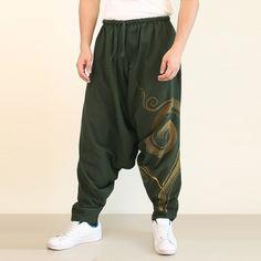 Low Crotch Harem Pants Men Olive Green. Buy Cheap Yoga Pants. We ship worldwide. #yogapants #yoga #namaste