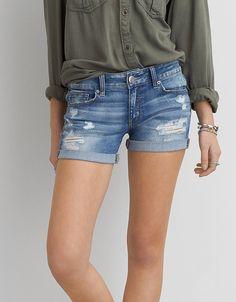 AEO Denim X midi shorts