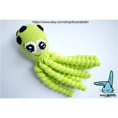 Check out this item in my Etsy shop https://www.etsy.com/listing/547775839/green-octopus-crochet-amigurumi-toy-baby