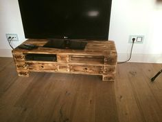 2 EPAL Pallet TV Stand with 2 Drawers   101 Pallet Ideas
