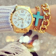 Gold Watch and Baubles