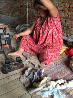 Yak wool shawl#Spinning#Handwoven#Cotton#and#yak#down#Maya Crafts#scarf#textile#Nepal