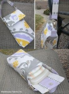 Wipes/Diaper case. Toss and go in your purse and say bye bye to the giant diaper bag!  MUST MAKE.