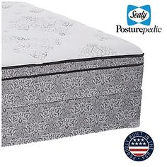 Sealy® Posturepedic® Colesville Queen Plush Euro Top Mattress & Box Spring Set at Big Lots.