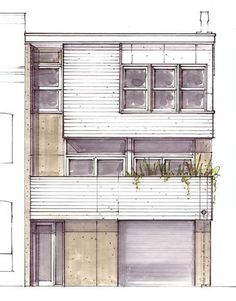 Welcome to the Urban Living Project – homes designed to be affordable, beautif… - Architecture Architecture Drawings, Interior Architecture, Container Architecture, Architecture Diagrams, Ancient Architecture, Sketches Arquitectura, Elevation Drawing, Interior Sketch, Interior Design