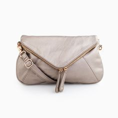 Grey Ring Around the Rosey Clutch by Street Level