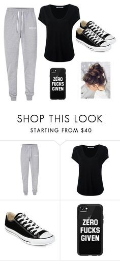 """lazy day"" by ejeffrey3 on Polyvore featuring Nicce, Alexander Wang, Converse and Casetify"
