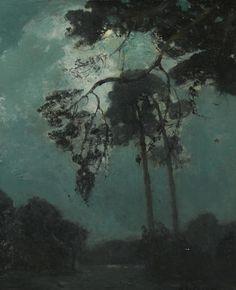 William Ritschel (1864-1949) Night at Del Monte 24 x 20in