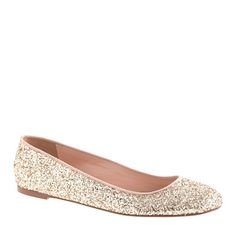 Glitter ballet flats for fall | JCrew