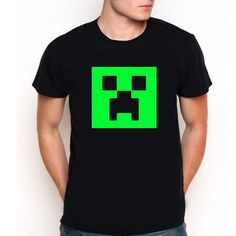 Minecraft Mine Craft Creeper Gamer Xbox Custom Black T-Shirt Tee All Size XS-XXL