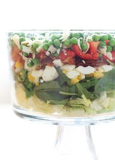 Classic Seven Layer Salad recipe by Barefeet In The Kitchen