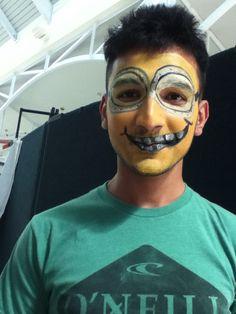 #minionfacepaint #funfacesballooncreationsfacepaint Minion Face Paint, Painting, Comic Con, Painting Art, Paintings, Drawings