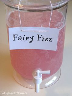 "Planning a Wallykazam birthday party for your kid? This ""fairy fizz punch"" makes for a cute kids' party drink, and brings to mind Wally's friend Libby Lite Sprite! Fairy Birthday Party, 4th Birthday Parties, Princess Birthday Parties, Paris Birthday, Spa Birthday, Garden Birthday, Third Birthday, Unicorn Birthday, Unicorn Party"