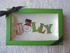 "Plane Jane Inc.# HCCF903 "" Jolly "" Christmas Candy Dish "" NIB "" BEAUTIFUL ITEM "" #collectibles #kitchen #home"
