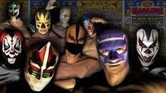 Máscaras de luchadores mexicanos, en cuyos grandes combates suelen ...