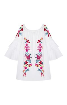 Primark - Embroidered Ruffle Sleeve Tunic