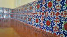 Detail of the talavera tiles. Model Home. Hacienda del Río Custom Homes. Playa del Carmen real estate area.