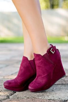 Going Places Bootie-Wine