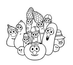 Nice larry boy coloring pages free download anime for Veggietales characters coloring pages