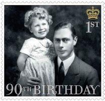 Queen Elizabeth II as a little princess with her father, King George VI, 1930