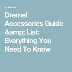 Dremel Accessories Guide & List: Everything You Need To Know - we list the types of Dremel bits, what they're used for, & the best bits for each task Dremel Bits Guide, Dremel Tool Bits, Dremel Tool Projects, Dremel Wood Carving Bits, Electric Wood Carving Tools, Dremel Router, Dremel 4000, Dremel Parts, Things To Do With A Dremel