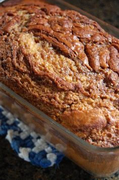 Heritage Schoolhouse: Cinnamon Quick Bread ...  I added 1/2 teaspoon of nutmeg.  The texture is light and the flavor is wonderful.  I may add some mini chocolate chips (tossed in with the dry ingredients) next time.  Delicious and lovely aroma, too.