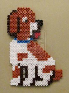 Puppy Perler Bead Sprite by GiftedChild777 on deviantart