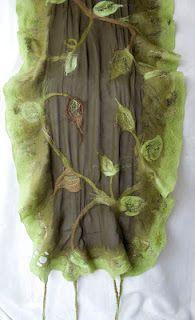 nuno felt leaf scarf
