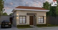 Resultado de imagen para fachadas de casas pequeñas con garage al frente