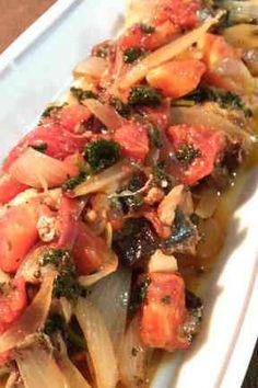 鯖でイタリアン!トマトオリーブオイル焼き