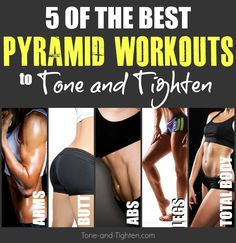 5 of the best FREE pyramid workouts for one awesome week! From Tone-and-Tighten.com