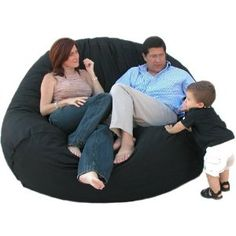Amazon.com: 7-feet Xx-large Black Cozy Sac Foof Bean Bag Chair Love Seat: Home & Kitchen