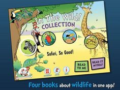 In The Wild! Learning Library Collection (Dr. Seuss/Cat in the Hat) - a set of 4 books from Cat in the Hat's Learning Library: Safari, So Good!, If I Ran the Rainforest, On Beyond Bugs and Miles and Miles of Reptiles. Appysmarts score: 92/100