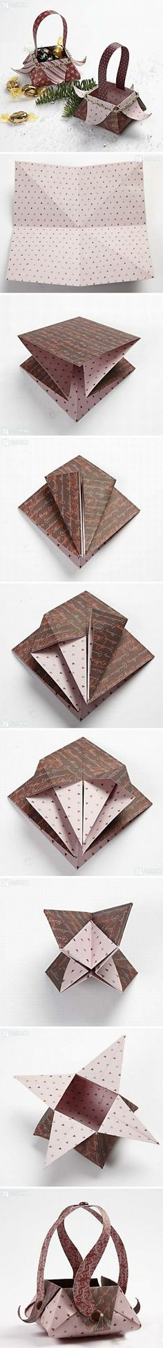 New Diy Paper Basket Weaving Ideas Ideas Origami And Kirigami, Origami Paper, Oragami, 3d Paper, Paper Crafts, Diy Crafts, Paper Boxes, Paper Basket Weaving, Papier Diy