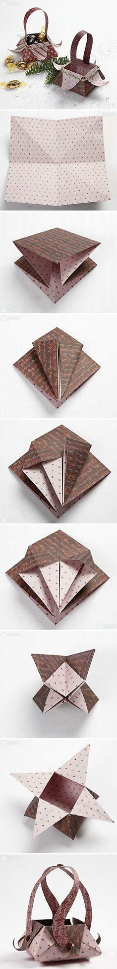 Beautiful Origami Basket