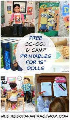 "Free school, camp and vacation printables for My Life, American Girl and 18"" dolls"